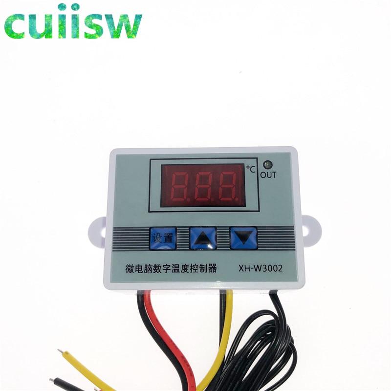 12V 24V 110V 220V Профессиональный W3002 цифровой светодиодный Температура контроллер 10A Термостат Регулятор XH-3002