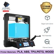 Anycúbico impressora 3d i3 mega s quadro de metal completo grau industrial alta precisão mais tamanho barato bocal impressora 3d pla filamento