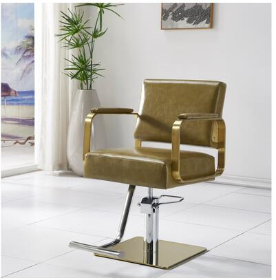 Hair Salon Chair Simple Ins Hair Salon Special Lift Seat Stainless Steel Hot Dyeing Cut Hair Barber Barber Shop Chair