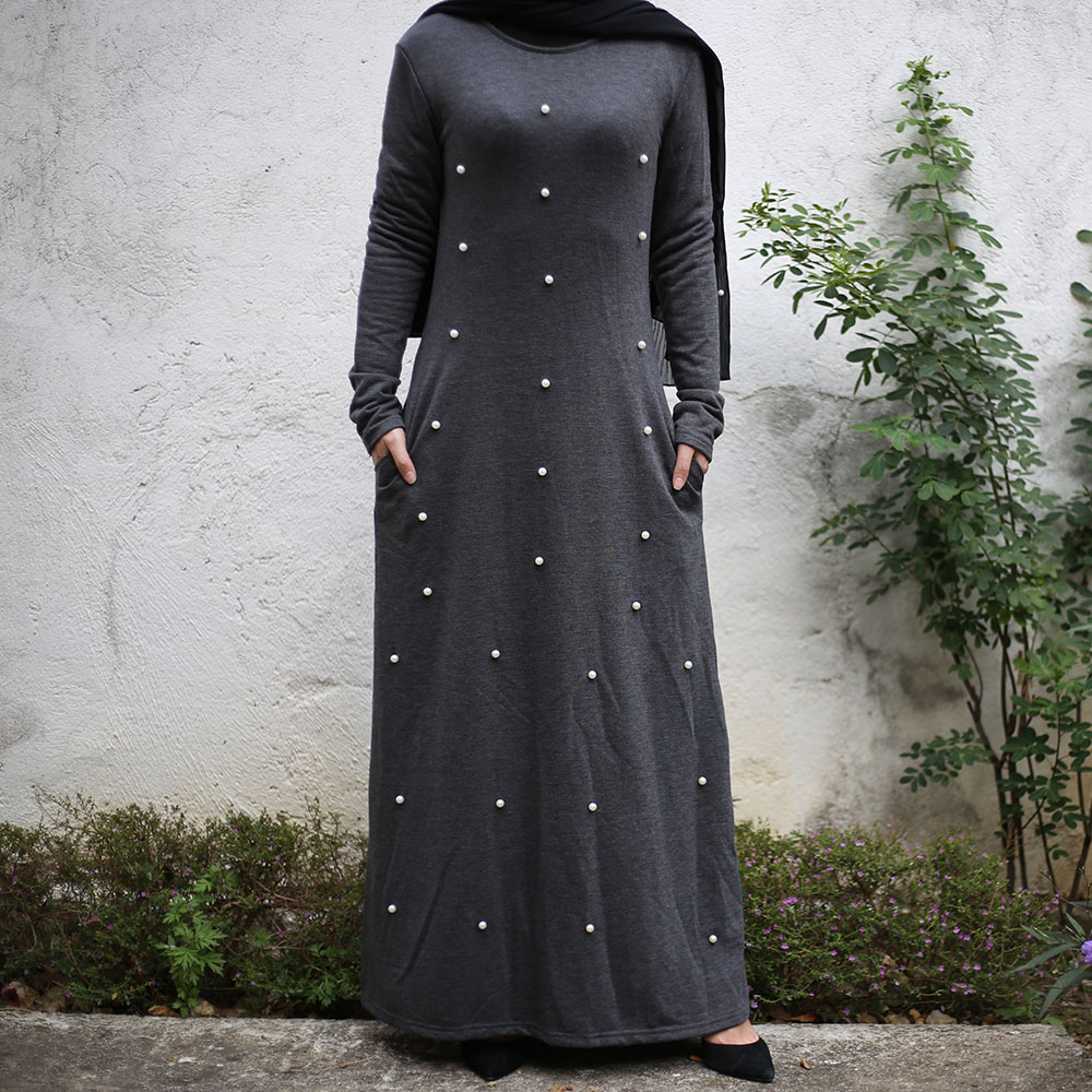 Plus Size Women Plain Abaya Kaftan Dubai Hijab Muslim Dress Saudi Qatar Pakistan Turkish Dresses Islamic Clothing Ropa Turca
