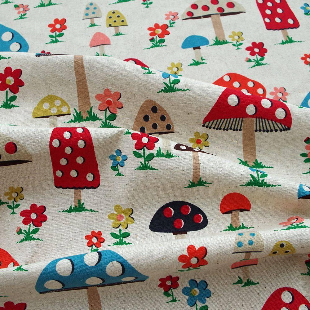 15mm printed cotton 5-10 yards mushroom handmade gift packaging DIY sewing