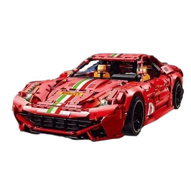 기술 Lamborghinies RC 자동차 SIAN FKP37 로드스터 모델 이탈리아어 슈퍼 레이싱 카 F12 488 빌딩 블록 아이를위한 장난감과 벽돌