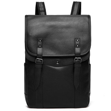 Vintage Laptop plecak mężczyźni wysokiej jakości plecak wodoodporny PU skórzany plecak człowiek moda torba męska Casual torby podróżne dla mężczyzn