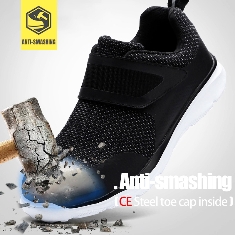 LARNMERN chaussures de sécurité pour hommes en acier orteil Construction chaussures de protection léger 3D antichoc travail chaussures de sport pour hommes - 2
