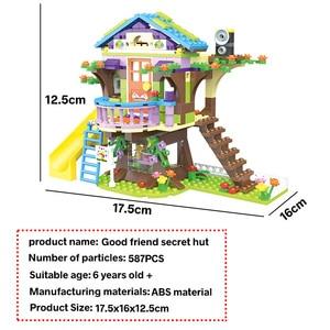 Image 5 - Bloques de construcción de casa de árbol de aventura para niñas, 587 uds, bloques de construcción compatibles con lys, juguetes para niños, regalo