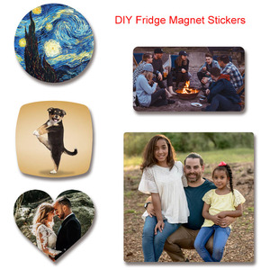 DIY Souvenir Fridge Magnet Stickers Square Soft magnet for refrigerator Home Decor Printing Personal Custom Lovers Baby 1PCS(China)