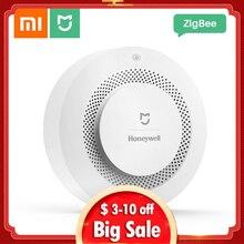 цена на Xiaomi Mijia Honeywell Fire Alarm Smoke Sensor Gas Detector Work With Multifunction Gateway 2 Smart Home Security APP Control