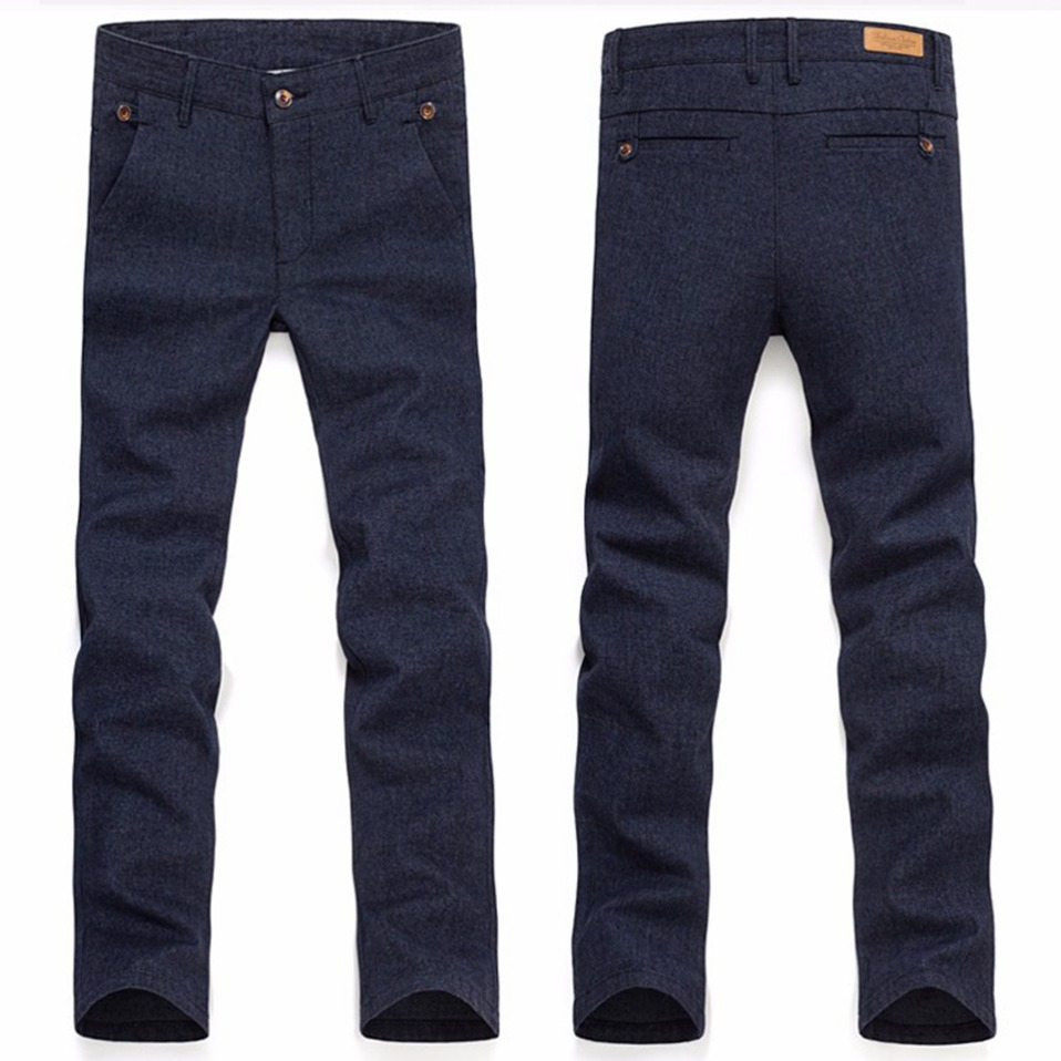 H67f0221dab724bcabe85e12ad8b526a5w HCYX Brand 2019 four season Classic High quality Men's Casual Pants Trousers Men Casual Pants Business Straight Size 38