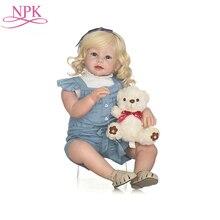 NPK 70Cm Große Größe Weiche Bebe Rebron Puppe Neugeborenen Puppe Realistische Kleinkind Baby Puppen Real Touch Tuch Körper Original silikon Spielzeug
