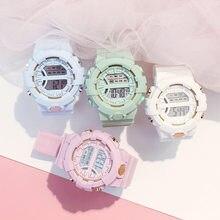 Wojskowe dzieci sportowe zegarki wodoodporny elektroniczny zegarek na rękę dzieci cyfrowy zegar LED dla chłopców dziewcząt zegarek dla dzieci
