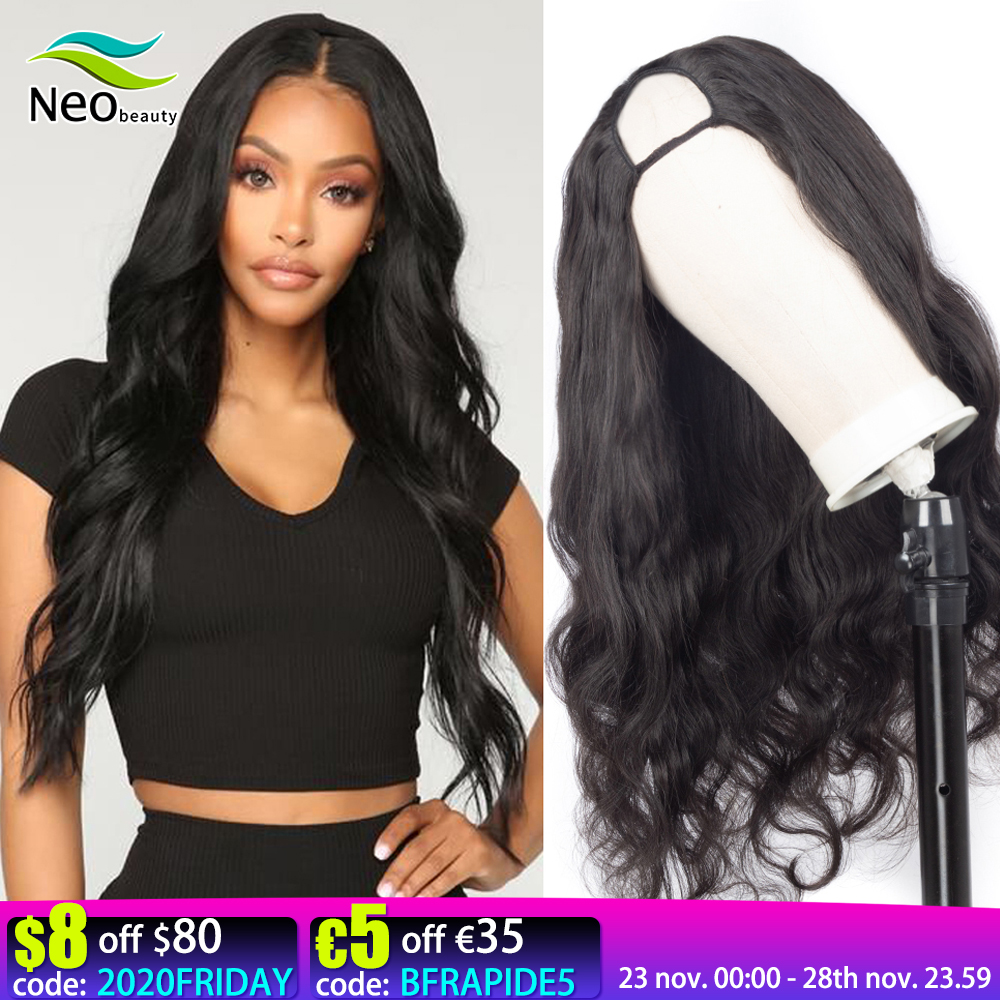 Onda do corpo u parte peruca do cabelo humano 180 densidade glueless perucas do cabelo humano 10a cabelo virgem brasileiro onda do corpo pode ser permanente & tintura