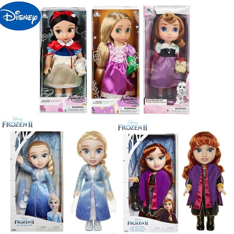 Original Disney reine des neiges 5 pièces Styles haute qualité 35cm Elsa poupée filles jouets princesse Anna et Elsa poupées vêtements pour poupées Childre