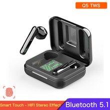 Q5 tws fones de ouvido sem fio q3 tws bluetooth fone de ouvido estéreo de alta fidelidade esportes correndo in-ear fones de ouvido com display led mic para xiaomi
