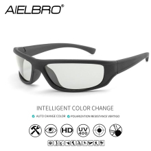 AIELBRO Photochromic Polarized Cycling Sunglasses Men Women Outdoor Sports Bicycle Eyewear Hiking Climbing Fishing Glasses