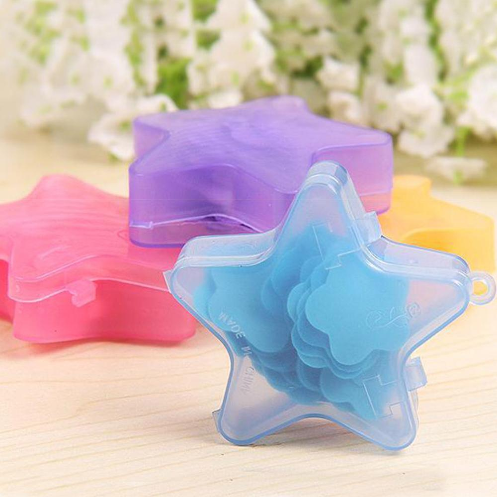 1box Mini Soap Paper Sheet Star Shape Disposable Scented Slice For Travel Soap Clean Hand Cute Cartoon