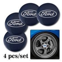 4 autocollants de roue de voiture 56mm, emblème de moyeu central pour Ford Puma Kuga Escape Kuga Mondeo Ecosport Fiesta Focus Fusion Ranger