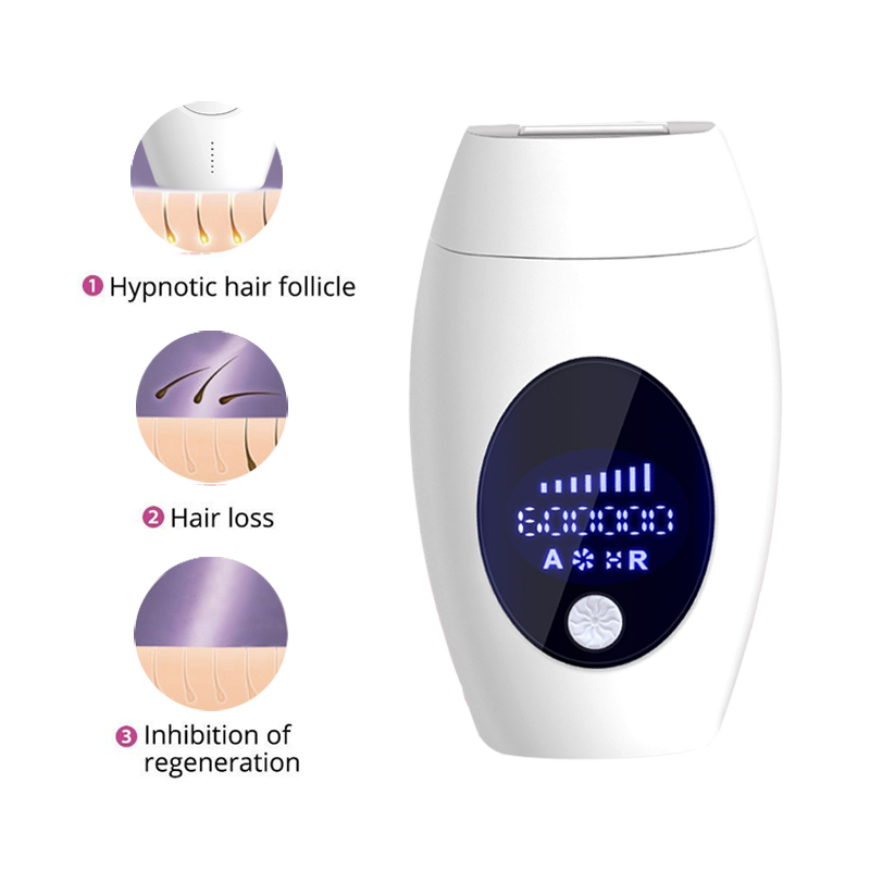 Mini 600000 Flash Permanent Epilator Laser Hair Removal Machine Electric For Household Permanent Lip Hair Under The Private Part
