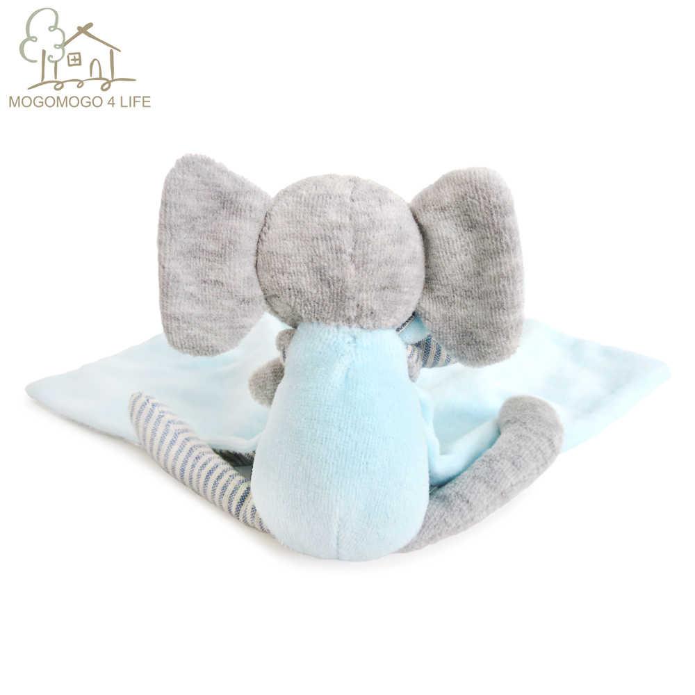 럭셔리 신생아 아기 보양 장난감 사랑스러운 만화 코끼리 부드러운 플러시 장난감 Ecofriendly 면화 다기능 침 타월 어린이위한