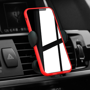 Image 2 - 15W Qi Wireless Car Charger Air Vent Phone Holder for iPhone Samsung Huawei Fast Charging Wireless Charger Auto Sensor Clamping