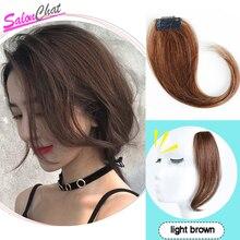 Бразильские Длинные волосы на заколках спереди с боковой бахромой, натуральные волосы Remy с челкой для женщин, человеческие волосы на заколках для наращивания
