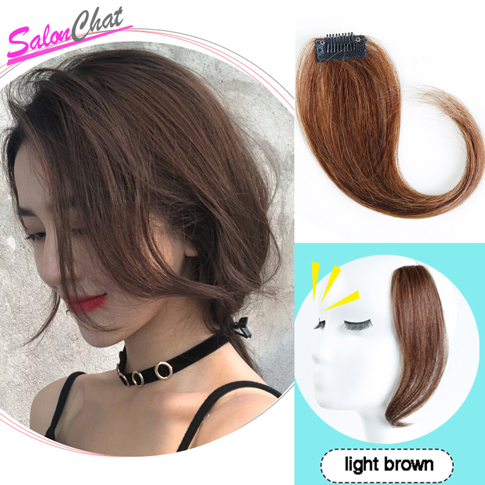 Brazilian Long Clip In On Front Hair Bang Side Fringe Hair Remy Natural Bangs Hair Piece For Women Clip In Human Hair Extensions