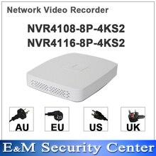 Оригинал dahua английская POE NVR мини 8/16 канала NVR4108 8P 4KS2 NVR4116 8P 4KS2 заменить NVR4108 8P и NVR4116 8P