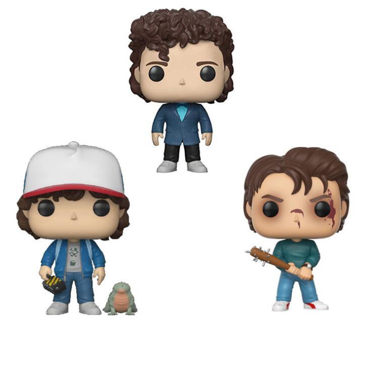 Funko POP Stranger Things Season 3 Dustin Snowball Dance Steve Eleven Collection Toys 2019 Action Figure Toys For Chlidren