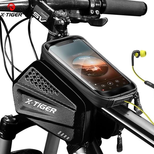X TIGER防雨自転車バッグバイクバッグタッチスクリーン電話ケースサイクリングバッグmtbバイク自転車トップチューブハンドルバー自転車バッグ