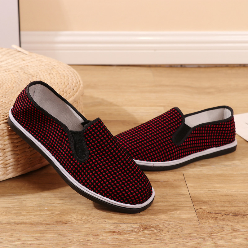 QWEDF Women's Shoes Rubber-Bottom Autumn New And Spring Red AG-22 Elastic