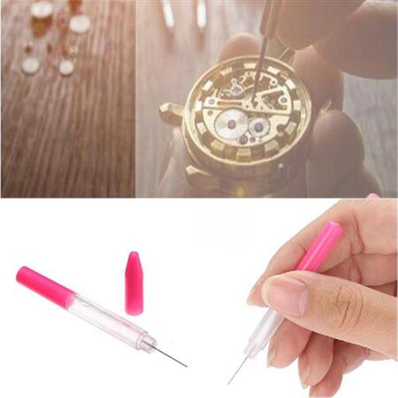 3pcs/set Oil Pin Pen Lubricant Precision Oiler Pen Pin Watch Clock Sewing Lubricant Oil Pen Needle Watchmaker Repair Tool Kits