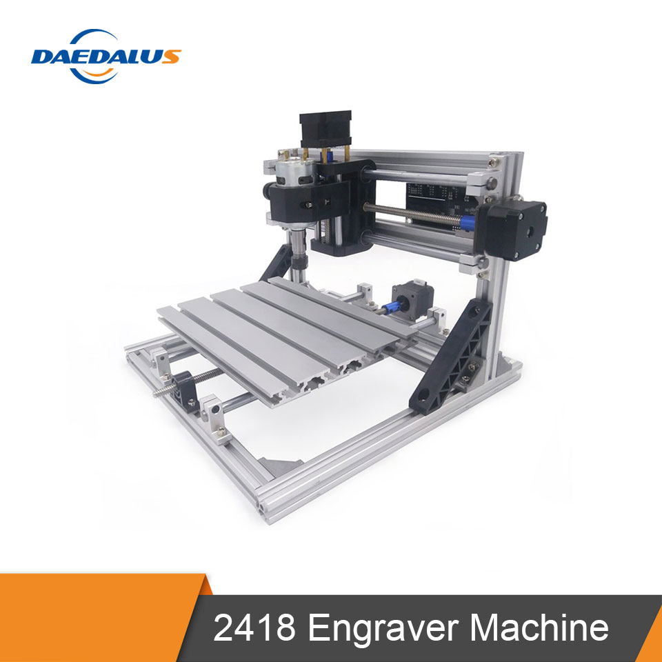<font><b>CNC</b></font> <font><b>2418</b></font> Engraver Machine Mini <font><b>CNC</b></font> Laser Machine 3 Axis PCB Milling Engraving Carving <font><b>Router</b></font> With GRBL Control Spindle ER11 image