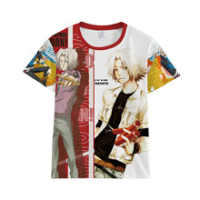 Katekyo Hitman Reborn Sawada Tsunayoshi Hibari Kyoya Ranbo Gokudera Hayato T-shirt Tshirts de Manga Curta T-shirt Traje Cosplay