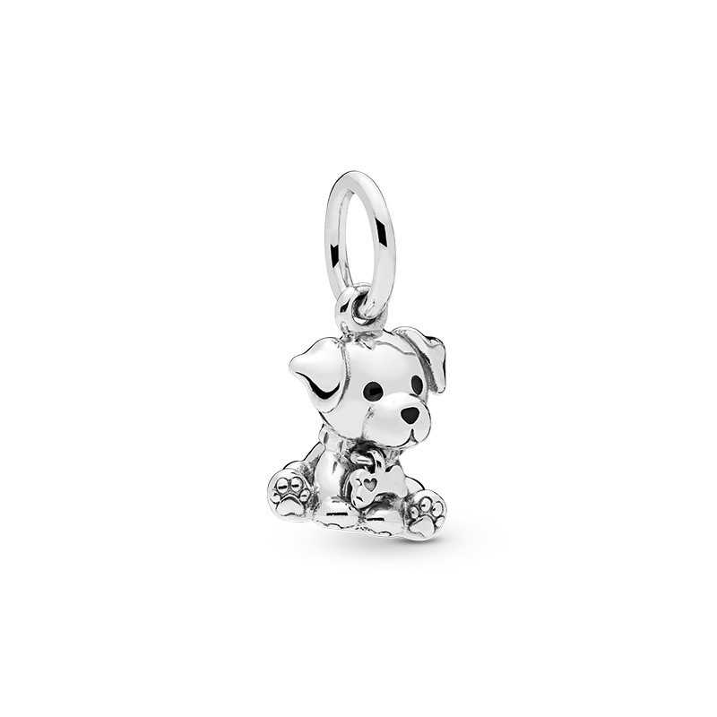 Neue Nette Reizende Hund Katzen Anhänger Silber Farbe DIY Charme Perlen Passt Pandora Frauen Armband Halskette DIY Schmuck Für Geschenke