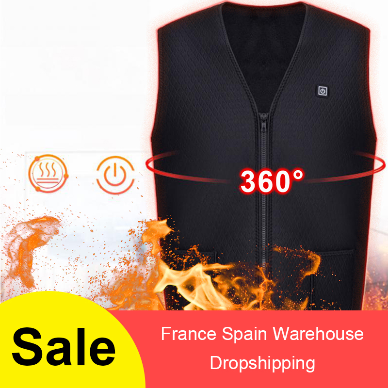 Outdoor USB Infrared Heating Vest  Winter Flexible Electric Thermal Clothing Waistcoat For жилет с подогревом Men Women