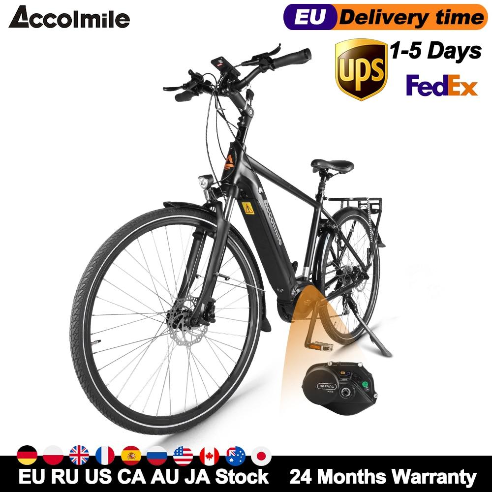 Hot Torque Electric Bike 28 Inch City Commuter Electric Bicycle Road E-Bike 140KM 250W Bafang M200 G210 Motor Mens Women's Ebike