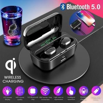 IPX7 Waterproof Bluetooth earphone 8D Stereo Wireless Headphones Headset With 3500mAh Power Bank G6s TWS 5.0 Bluetooth Earbuds