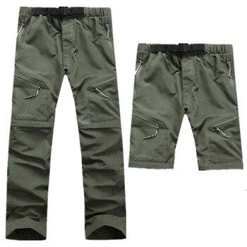 Men's Zip Off  Summer Convertible Hiking Pants Trekking Fishing Camping Climb Trousers Waterproof Outdoor 2 In 1 Pants Men Pants