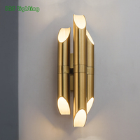 Gold Copper Led Wall lamp Foyer Stair Bathroom Wall Sconce Home Wall Decoration Bedroom LED Wall Light Nordic Light Fixtures