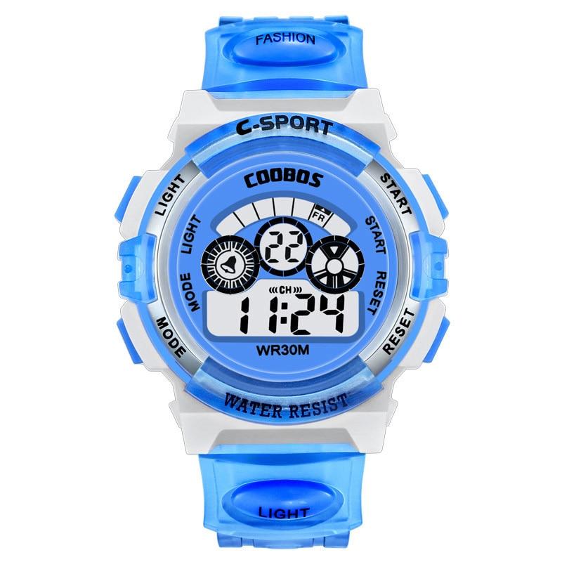 Montre Enfant Age Girl Watch Kid Waterproof Digital Watches Colorful Lights Children Wrist Watch For Boys Sport Electronic Clock