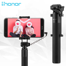 Original Huawei Honor Selfie Stick Monopod Wired Selfi Self Stick Extendable Handheld Shutter for iPhone Android Oneplus Samsung cелфи палка honor selfie stick af14 черный [02452353]
