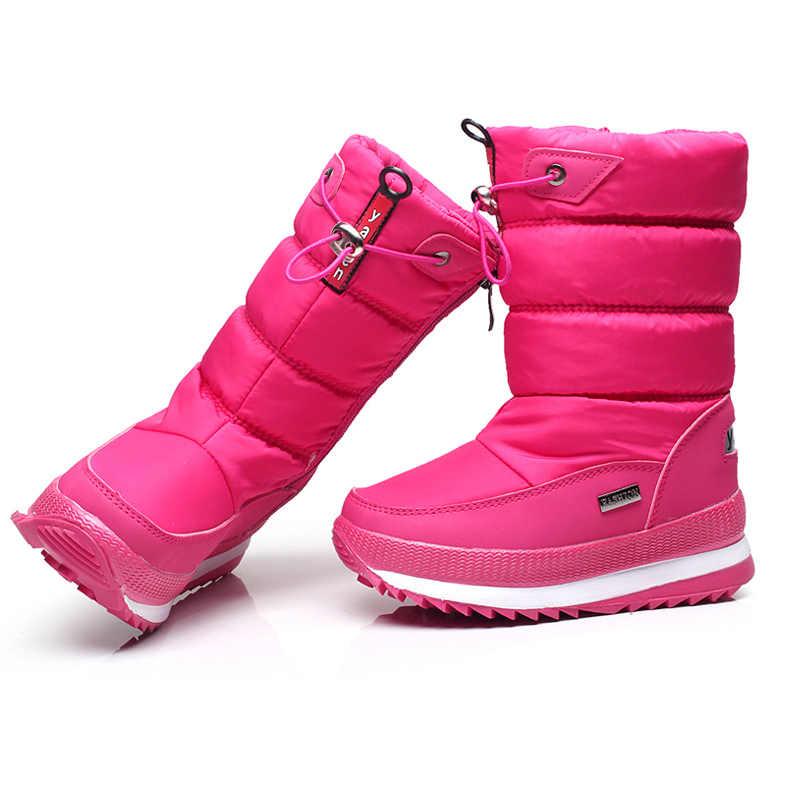 -30 grau 2019 menina botas crianças botas de inverno meninas botas de inverno À Prova D' Água Botas de Neve quente Crianças sapatas dos miúdos galochas meninos