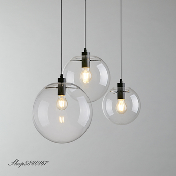 Post Modern Pendant Lamps Clear Glass Kitchen Hanging Lamps Dining Room Light Fixtures Creative Art Deco Loft Pendant Lights LED post modern pendant lamps clear glass kitchen hanging lamps dining room light fixtures creative art deco loft pendant lights led