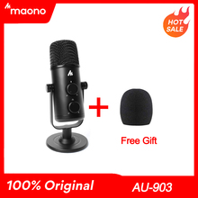 Профессиональный конденсаторный микрофон MAONO USB, всенаправленный Студийный микрофон, компьютерный микрофон для игр на Youtube и Подкаст
