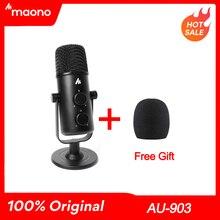MAONO micrófono condensador profesional USB, micrófono omnidireccional para estudio, micrófono para ordenador para Youtube, Podcast y juegos