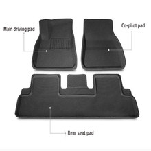 1*Accessories Special Fully Surrounded Foot Pad For Tesla Model 3 2017 -2020 Car Waterproof Non-slip Floor Mat TPE XPE Modified