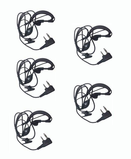 5pcs Ptt Mic headphone Walkie Talkie Earpiece baofeng headset for UV-5R UV-5RE UV-6R BF-888S  Kenwood CB Two Way Radio parts