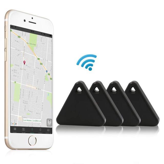 Pet Smart Mini GPS Tracker Pet Locator Anti-lost Waterproof Bluetooth Tracker Triangular Kids Dog Cat Tracker Multiple Colors 6