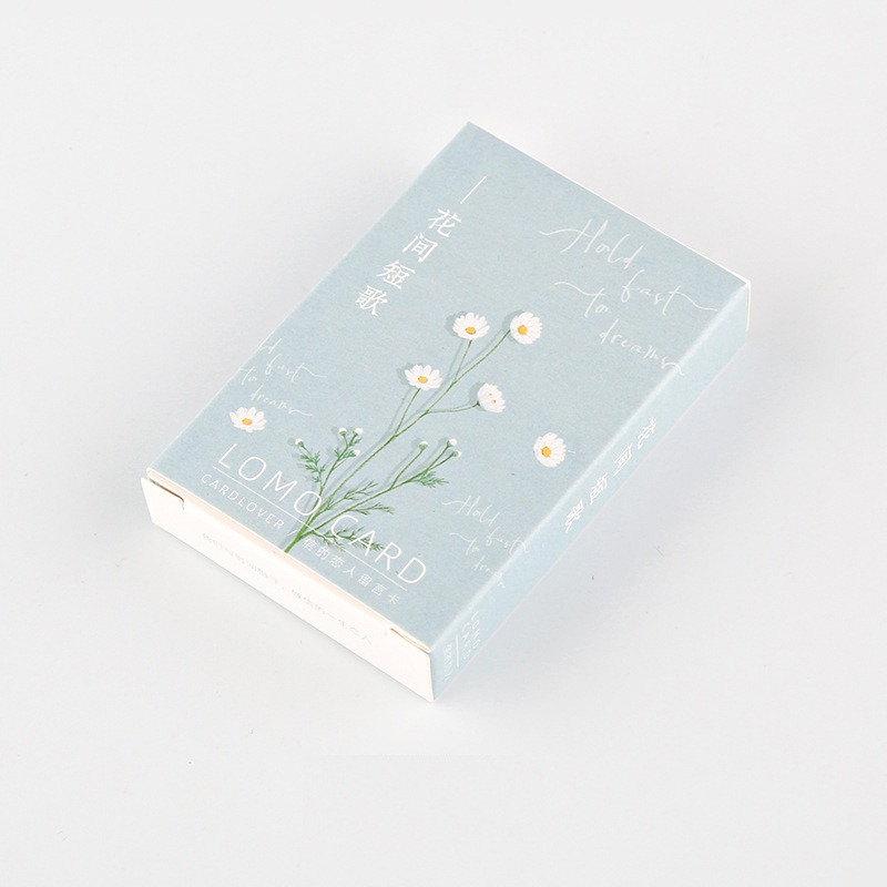 28 Sheets/Set Beautiful Flowers Plant Series Lomo Card Mini Postcard Birthday Gift Card Message Card 52*80mm