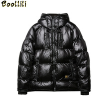 Boollili 2020 Men #8217 s Down Jacket Winter Coat Men Fashions Thick Warm Puffer Down Jackets Coats with Hat Parka Manteau Homme cheap Wide-waisted KJ790 Casual zipper Full Pockets Zippers Thick (Winter) Broadcloth Polyester White duck down NONE 100g-150g