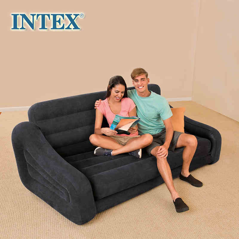 Living Room 2-Seater Air Sofa Inflatable Sectional Sofas Foldable Furniture Convertible Lounger/Couch Sleeping Mat/Mattress